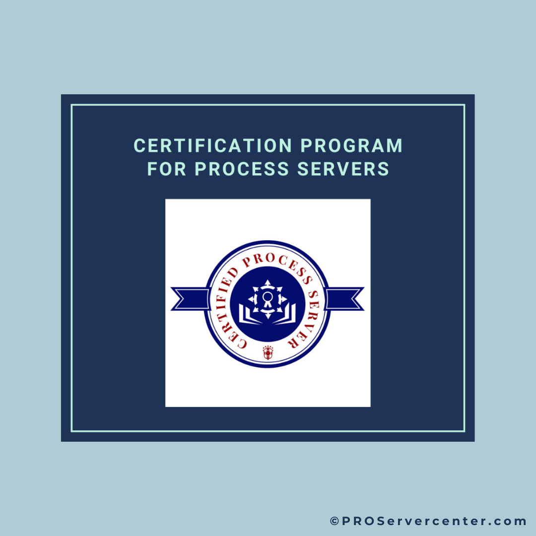 certification for process servers